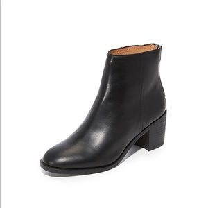 Madewell The Pauline Boots in Black Leather, 6.5